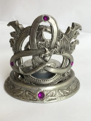 Pewter Celtic Knot Tea Light Candle Holder