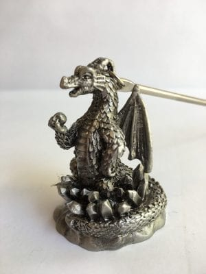 Solid Pewter Candle Snuffer Dragon